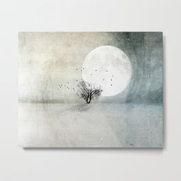 Only the Moon Knows Metal Print