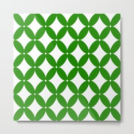 Abstract pattern - green and white. Metal Print