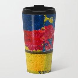 Blue, Red and Yellow Travel Mug