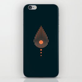 Art Deco Blood Drop for Diabetes iPhone Skin