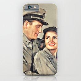 John Wayne and Donna Reed iPhone Case