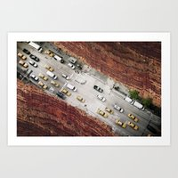 bridge Art Prints featuring Bridge by Vin Zzep