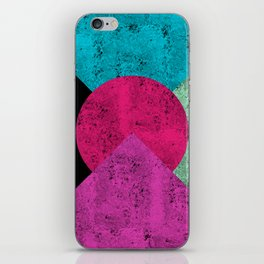 Colorful Abstract Geometric Background iPhone Skin