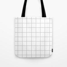 Grid (Silver/White) Tote Bag