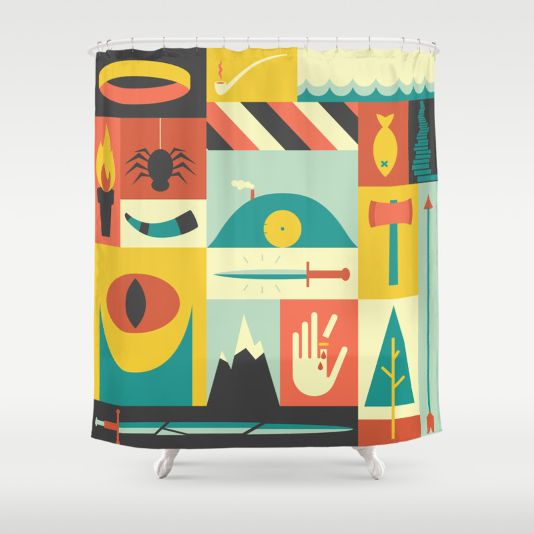 Digital and Movies-tv Shower Curtains | Society6