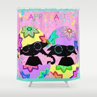 easter Shower Curtains featuring Easter by BLOOP