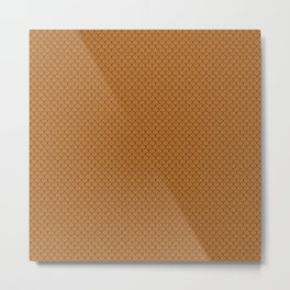 Copper Orange Scales Pattern Metal Print