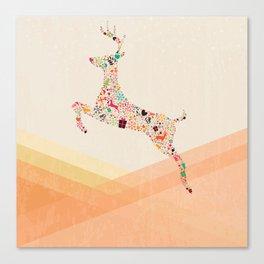 Christmas reindeer 5 Canvas Print