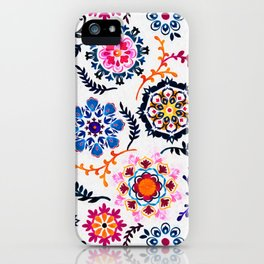 Happy Color Suzani Inspired Pattern iPhone Case