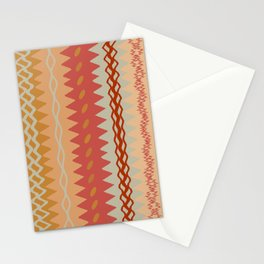 Assorted Zigzags And Waves Sienna Peach Grey Stationery Cards