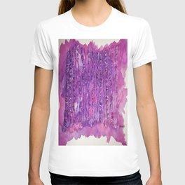 Deep Purple Abstract Aspen Tree Watercolor Painting T-shirt