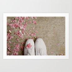 Truckstop Flower Art Print