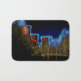 Digital Art Ironbridge Power Station Bath Mat