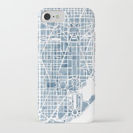Washington DC Blueprint watercolor map iPhone Case