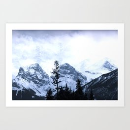 Mystic Three Sisters Mountains - Canadian Rockies Art Print