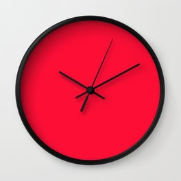Tractor red - solid color Wall Clock