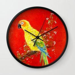 Macaw bird Wall Clock