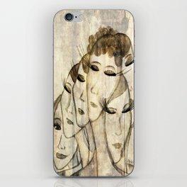 Silence shower iPhone Skin