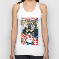 conan Tank Tops featuring CONAN THE BARBERER by i live