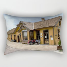 Waiting at the Depot Rectangular Pillow