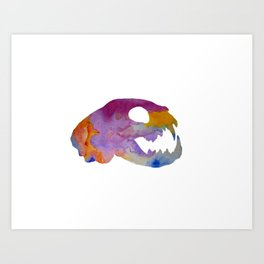 Cat Skull Art Art Print