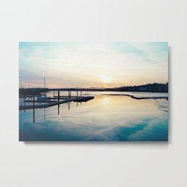 Pwllheli Marina - Mirror Reflection 01 Metal Print