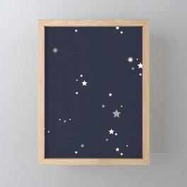 Starry Night Sky Framed Mini Art Print