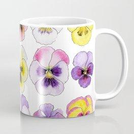 violet flowers on white background Coffee Mug