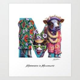 Moomoos in Muumuus Art Print