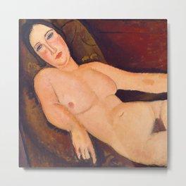"""Amedeo Modigliani """"Nude on a Divan"""" Metal Print"""