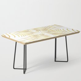 Palm Leaves in Golden Yellow Pattern Coffee Table