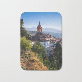 Stunning mountain village of Zahara de la Sierra in Spain Bath Mat