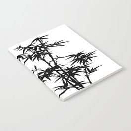 Bamboo Silhouette Black And White Notebook