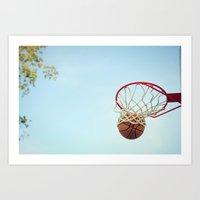 basketball Art Prints featuring Basketball by KimberosePhotography