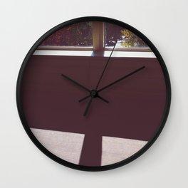 fall window Wall Clock