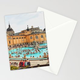 A Day at the Thermal Baths Stationery Cards