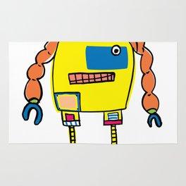 Classic Mr. Orange Super Robot Rug