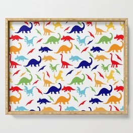Colorful Dinosaurs Pattern Serving Tray