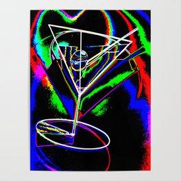 Martini at Night Tilt Poster