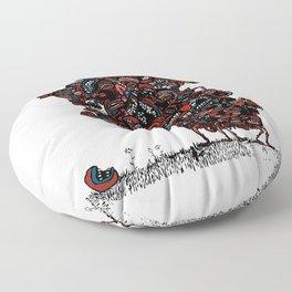 The chattering class  -alt Floor Pillow