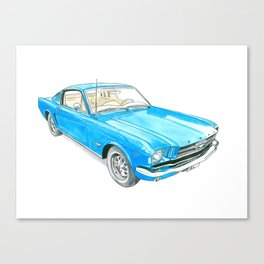 65 Mustang Fastback Canvas Print