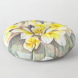 Frangipani White Floor Pillow