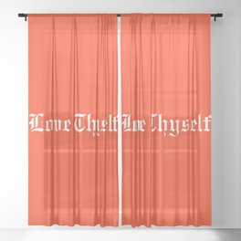 LOVE THYSELF Sheer Curtain