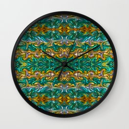 Molten gold with impurities Wall Clock