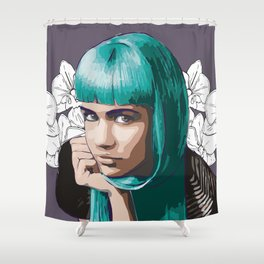 Grimes Shower Curtain
