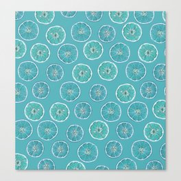 Turquois Oranges Pattern Canvas Print