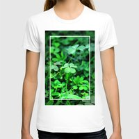 clover T-shirts featuring Clover Stay by Julie Maxwell