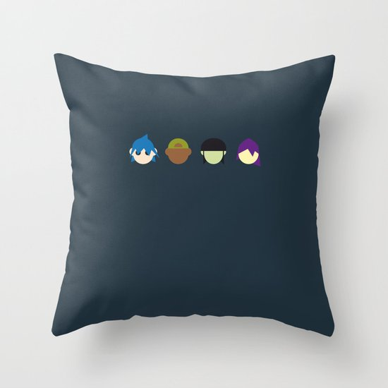 Famous Capsules - Gorillaz Throw Pillow