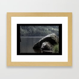 Glendalough Lake Framed Art Print