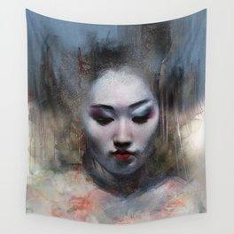 The ikebana woman Wall Tapestry